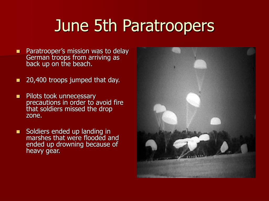 June 5th Paratroopers