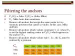 filtering the anchors