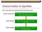 general outline of algorithm