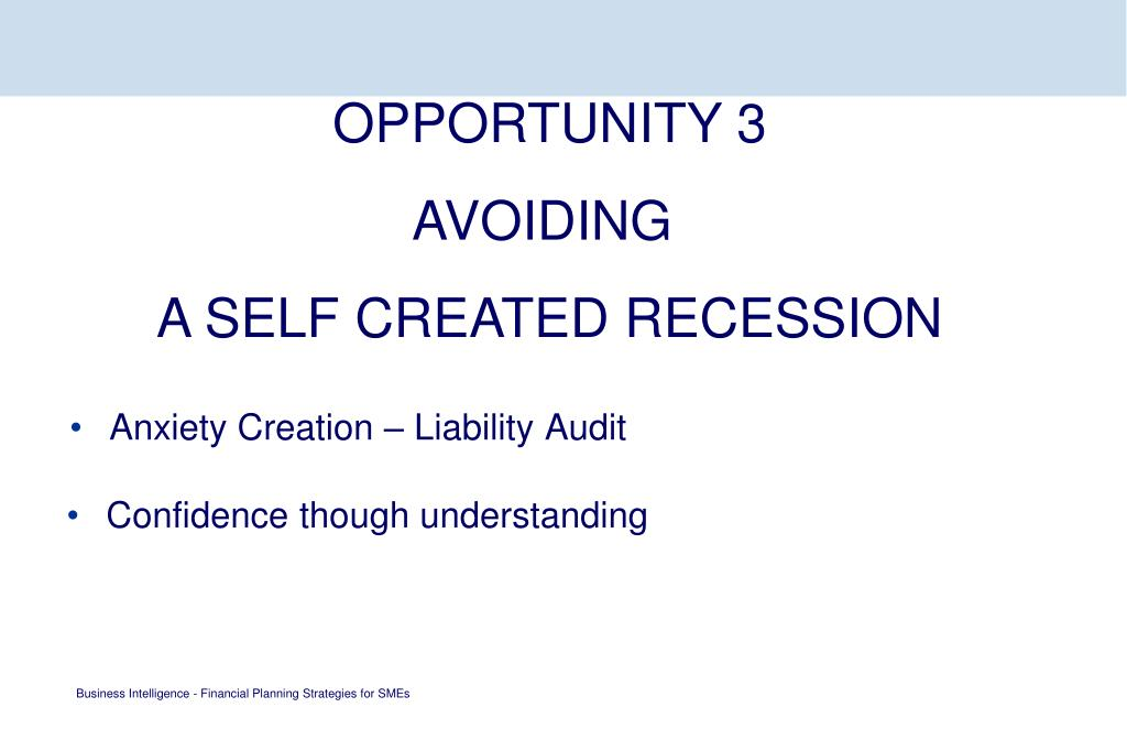 Anxiety Creation – Liability Audit