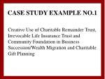 case study example no 1