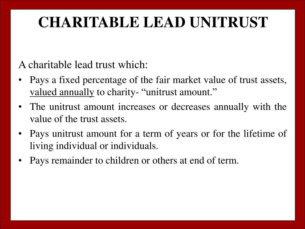 CHARITABLE LEAD UNITRUST