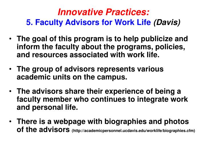 Innovative Practices:
