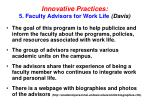 innovative practices 5 faculty advisors for work life davis