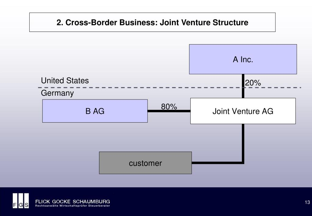 2. Cross-Border Business: Joint Venture Structure