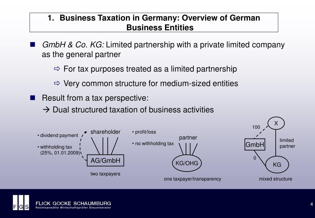 Business Taxation in Germany: Overview of German Business Entities