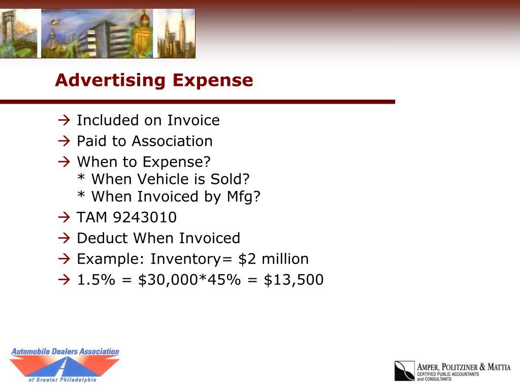 Advertising Expense