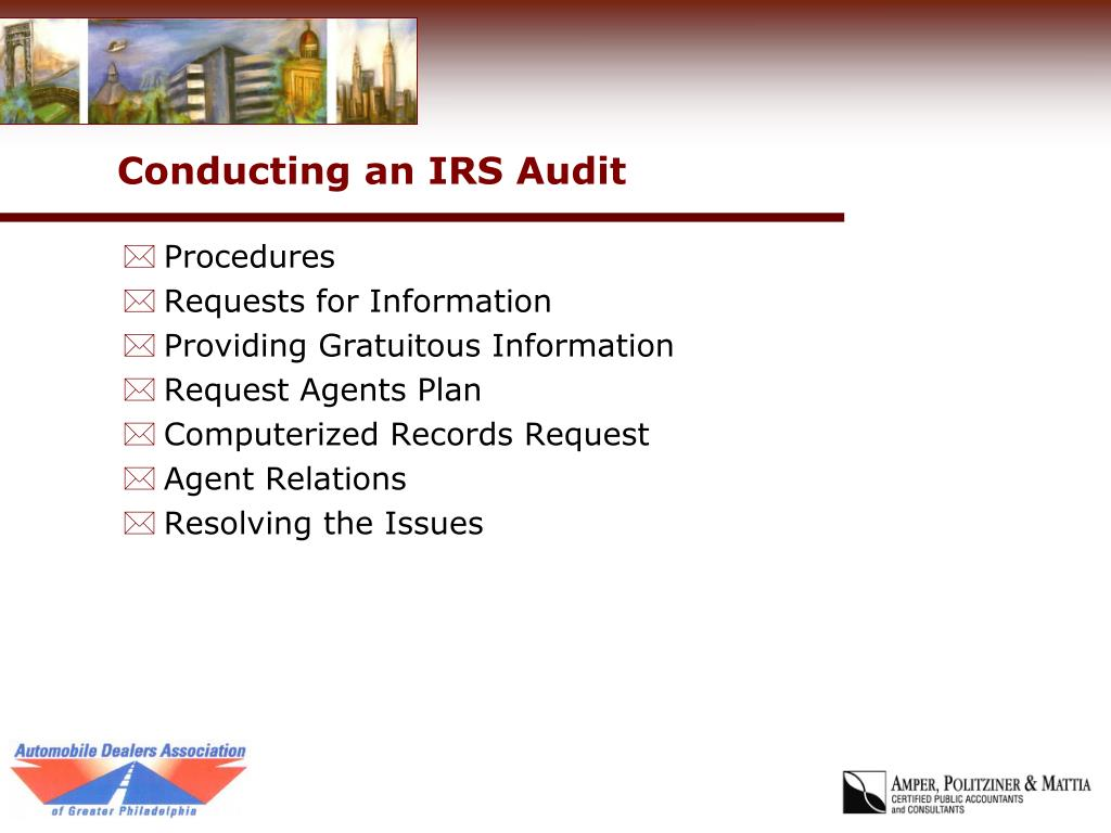 Conducting an IRS Audit