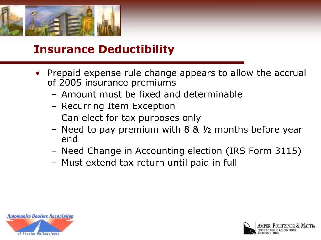 Insurance Deductibility