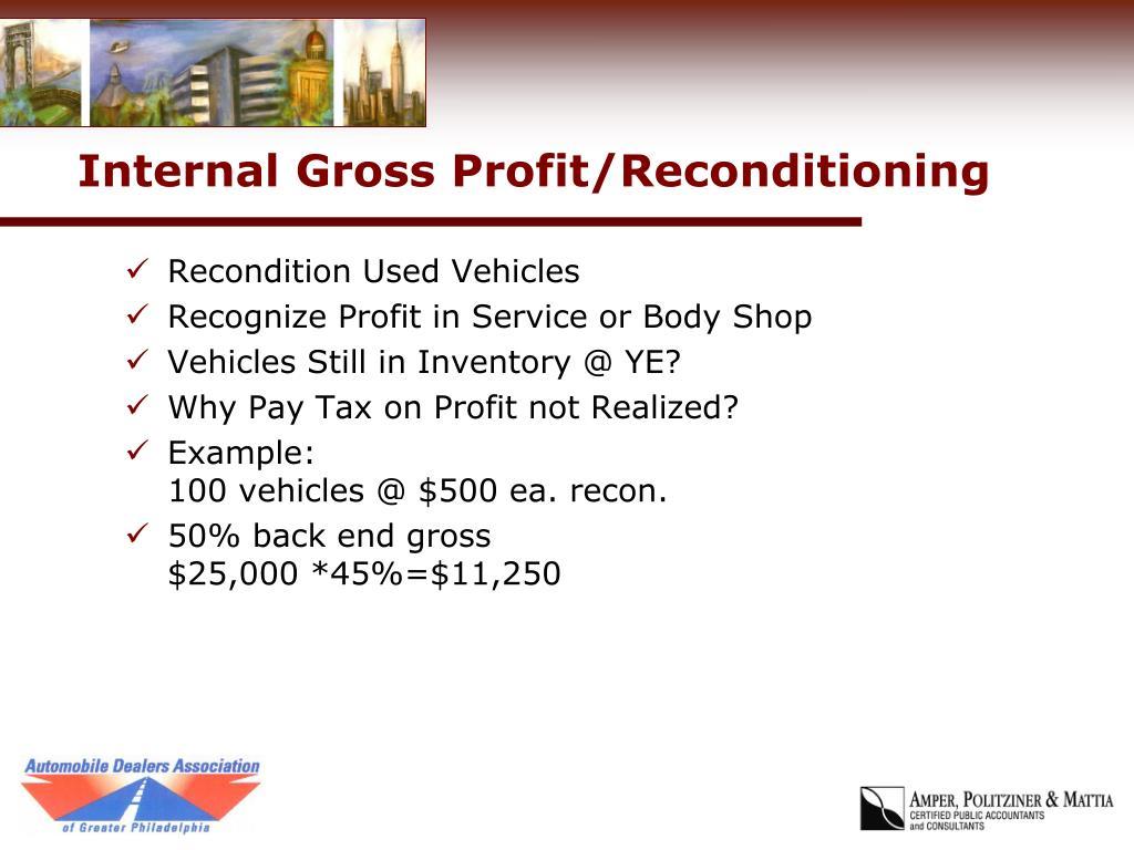 Internal Gross Profit/Reconditioning
