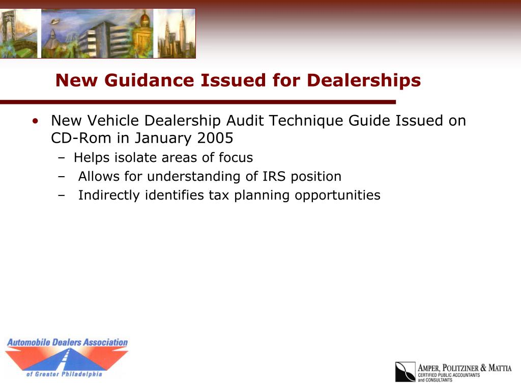 New Guidance Issued for Dealerships