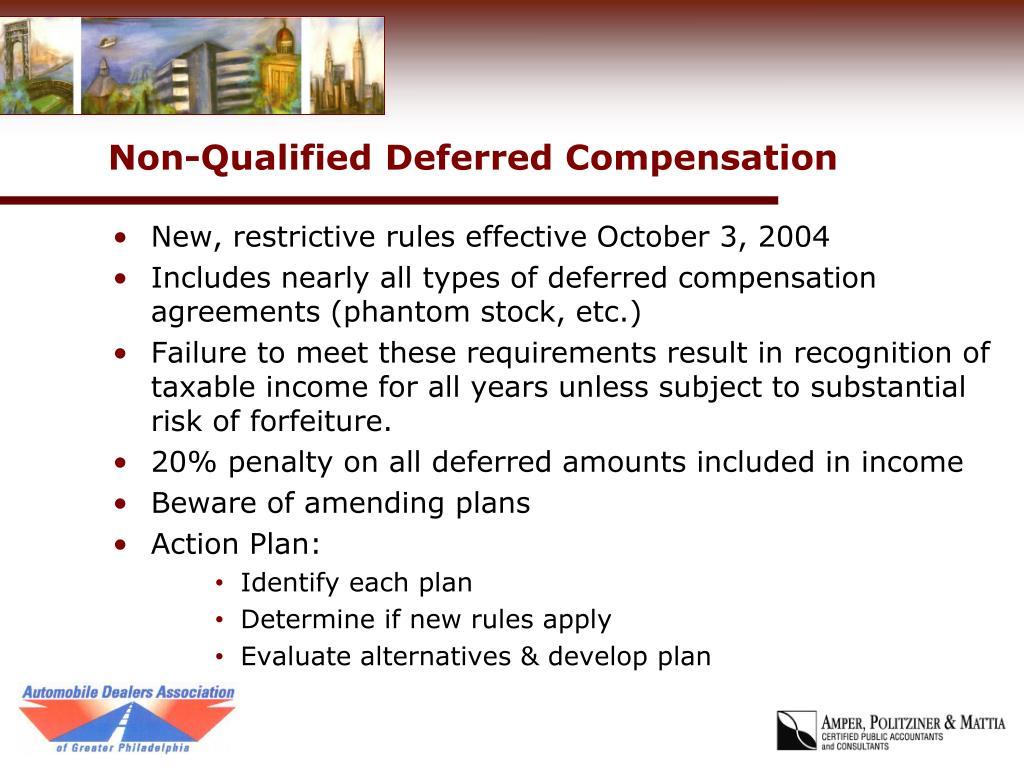 Non-Qualified Deferred Compensation