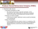 producer owned reinsurance company porc