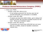 producer owned reinsurance company porc22