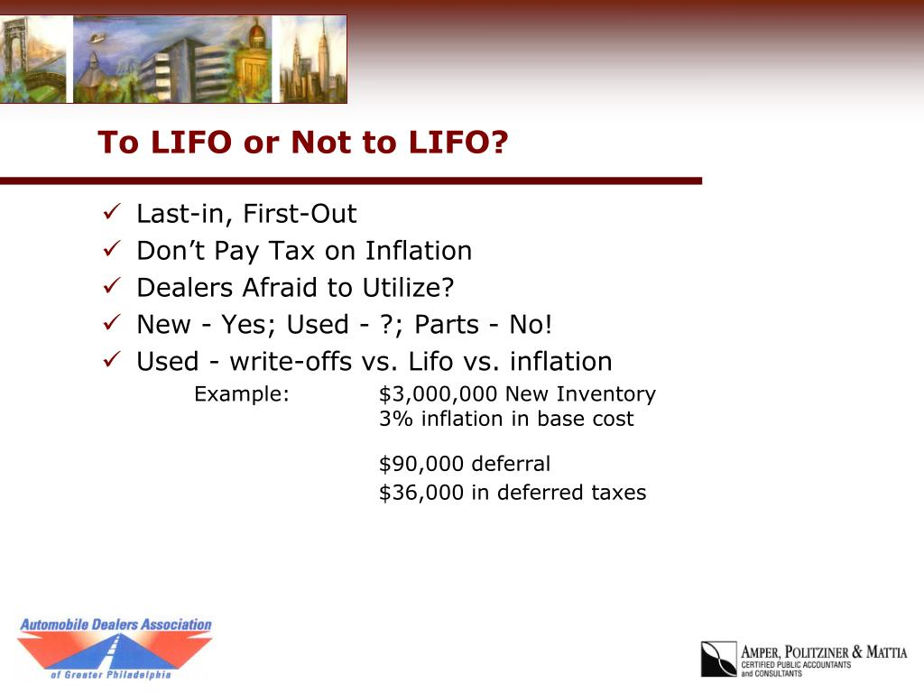To LIFO or Not to LIFO?