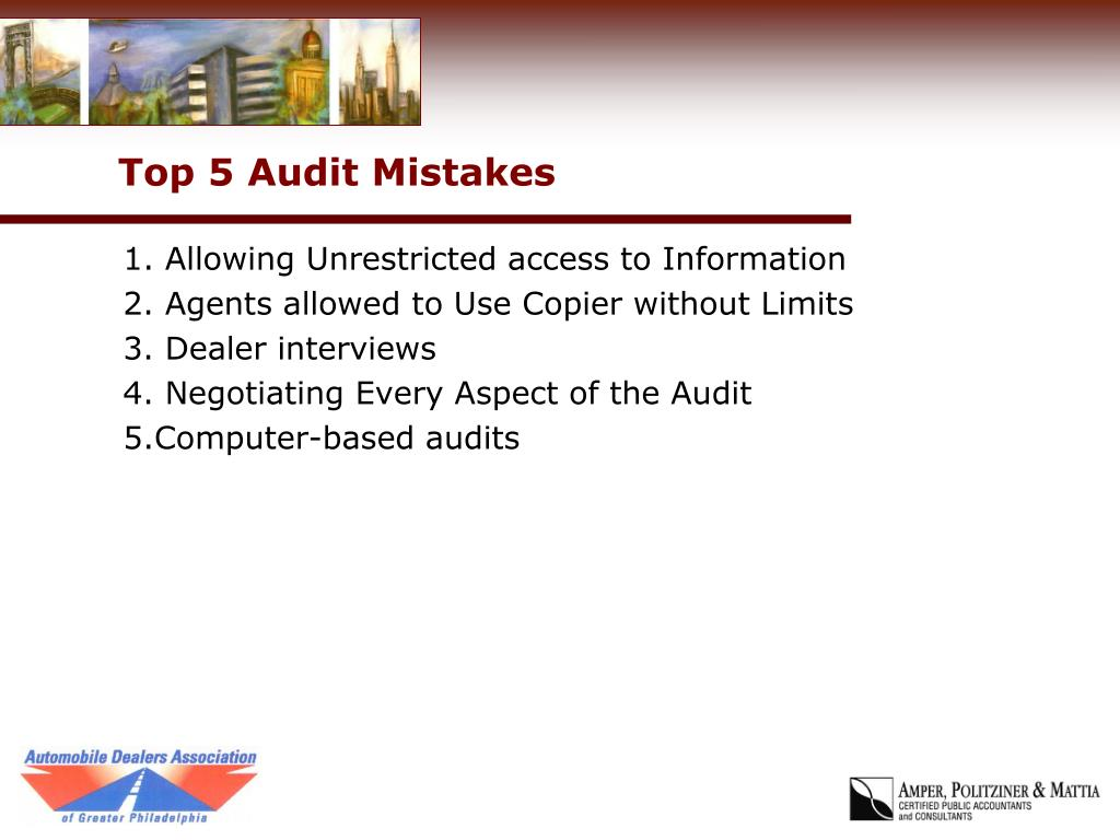 Top 5 Audit Mistakes
