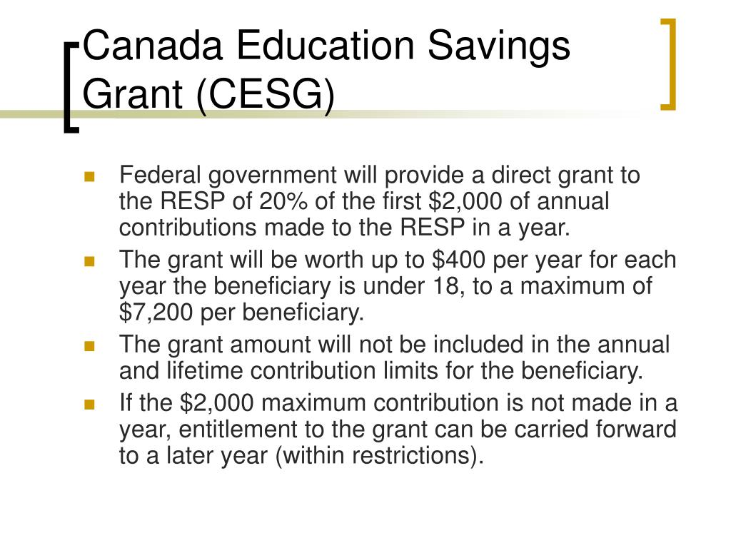 Canada Education Savings Grant (CESG)
