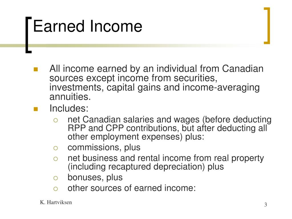 Earned Income
