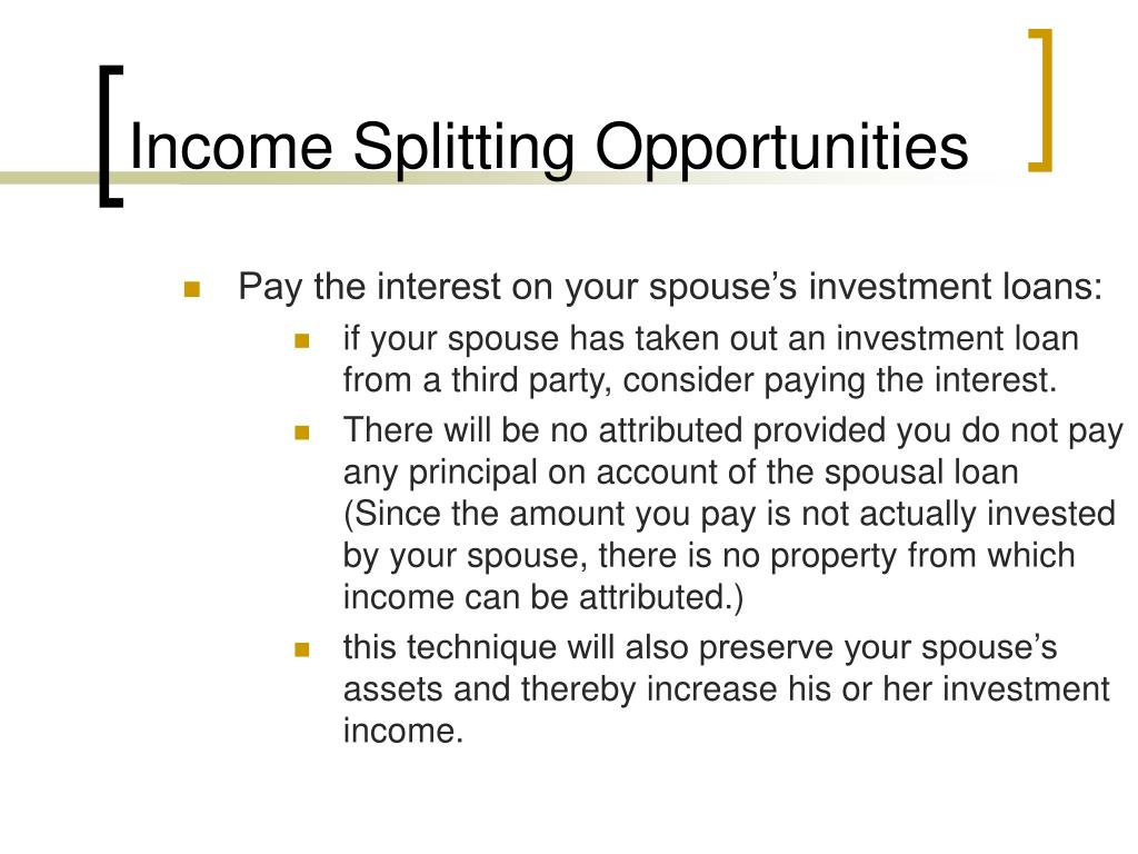 Income Splitting Opportunities