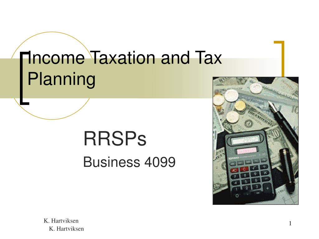 Income Taxation and Tax Planning