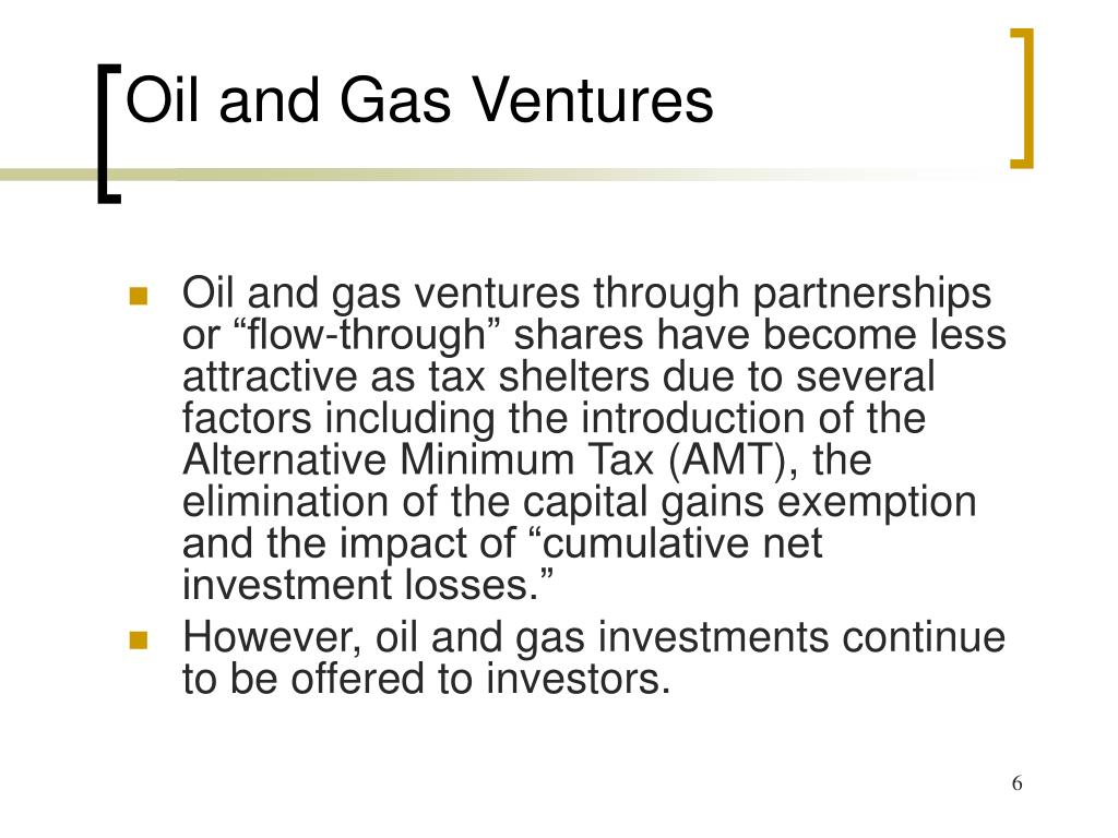 Oil and Gas Ventures