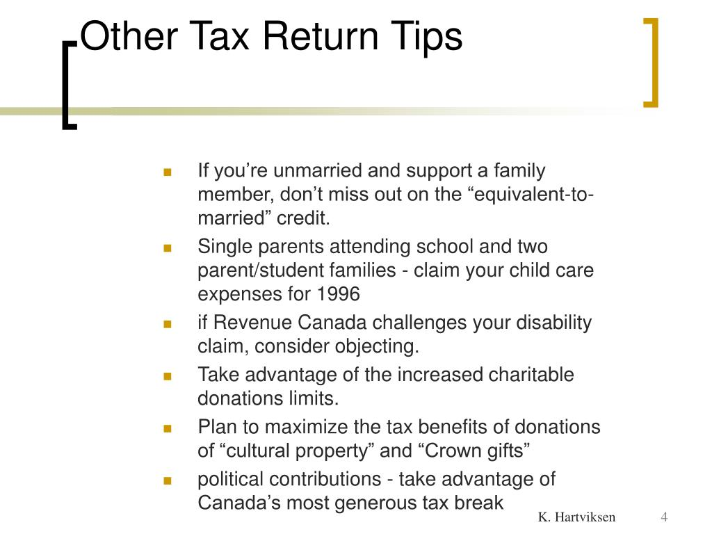 Other Tax Return Tips