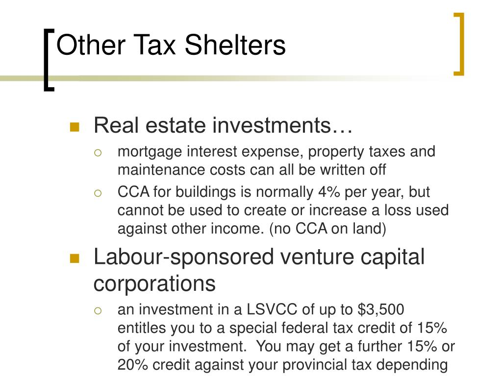 Other Tax Shelters