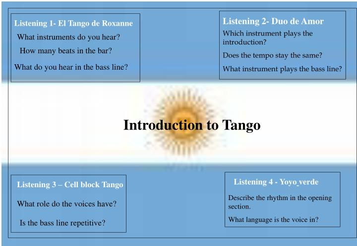 Introduction to tango