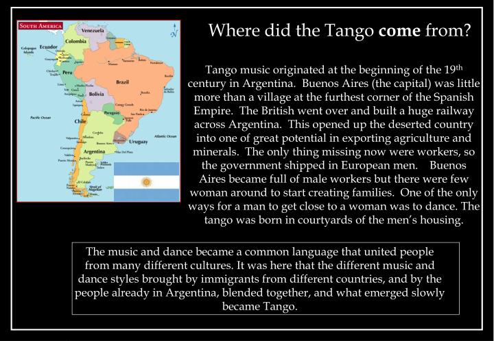 Where did the tango come from