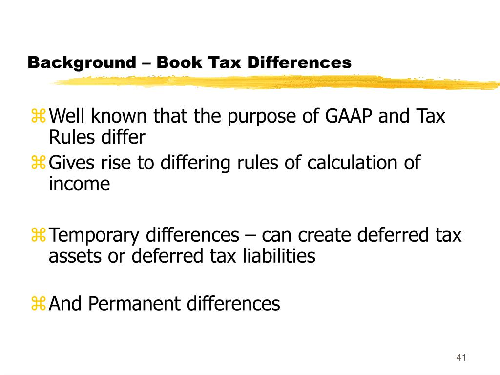 Background – Book Tax Differences