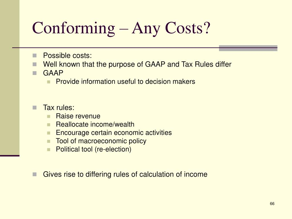 Conforming – Any Costs?