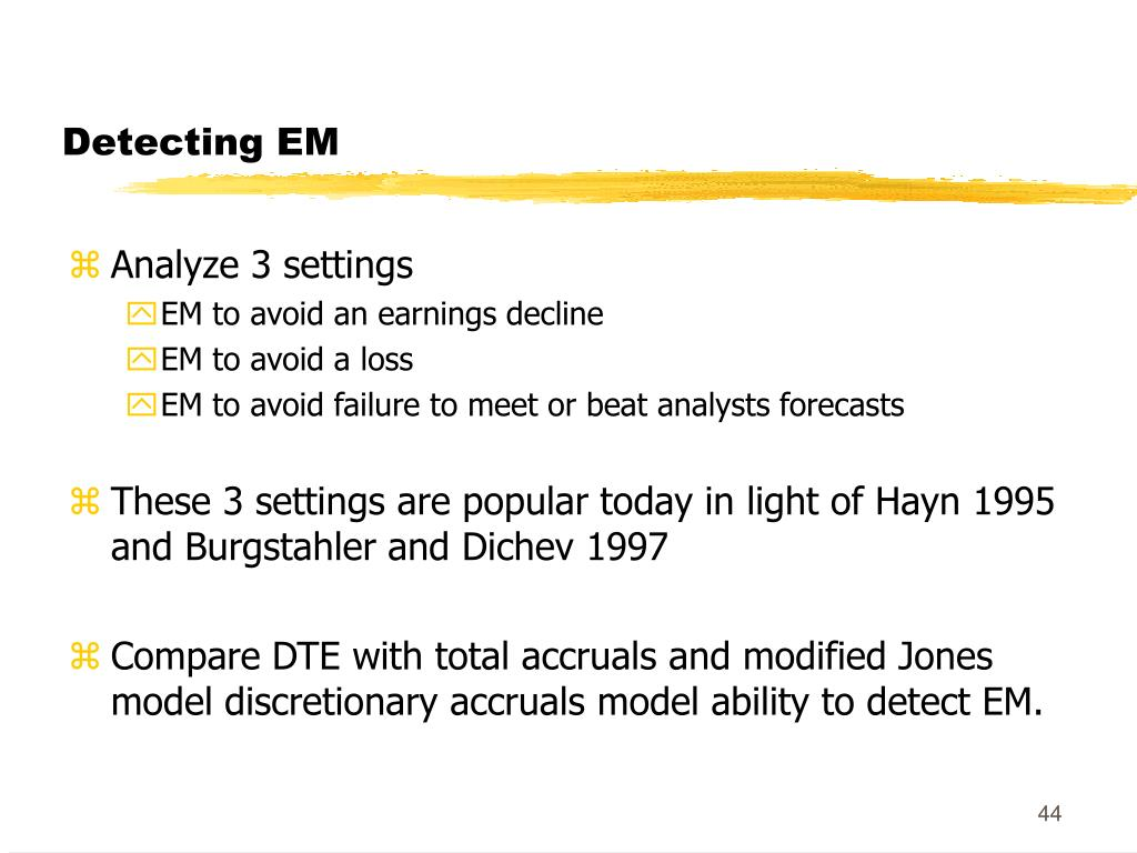 Detecting EM