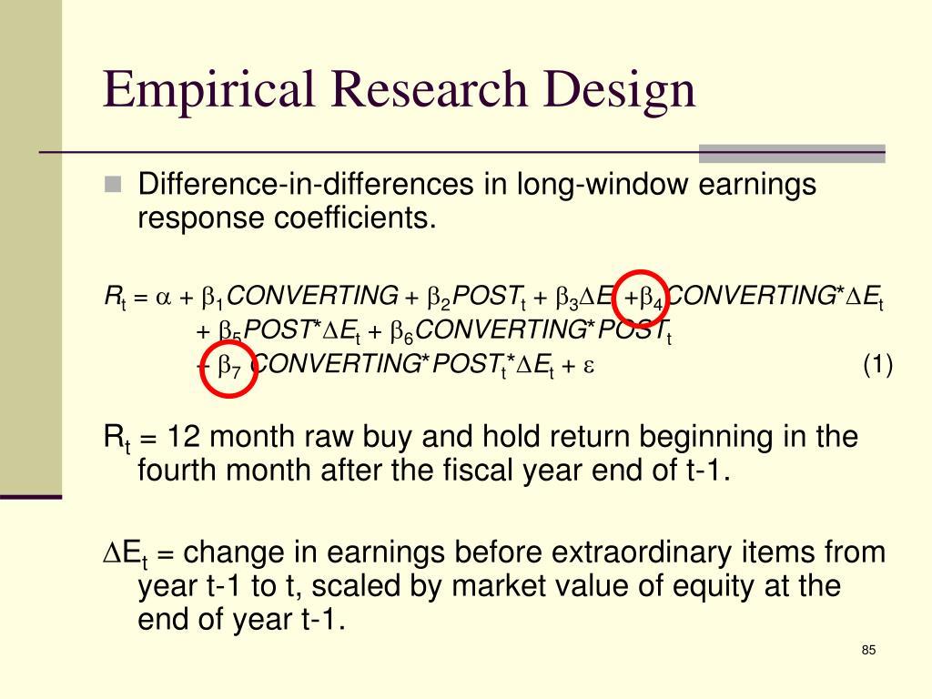 Empirical Research Design