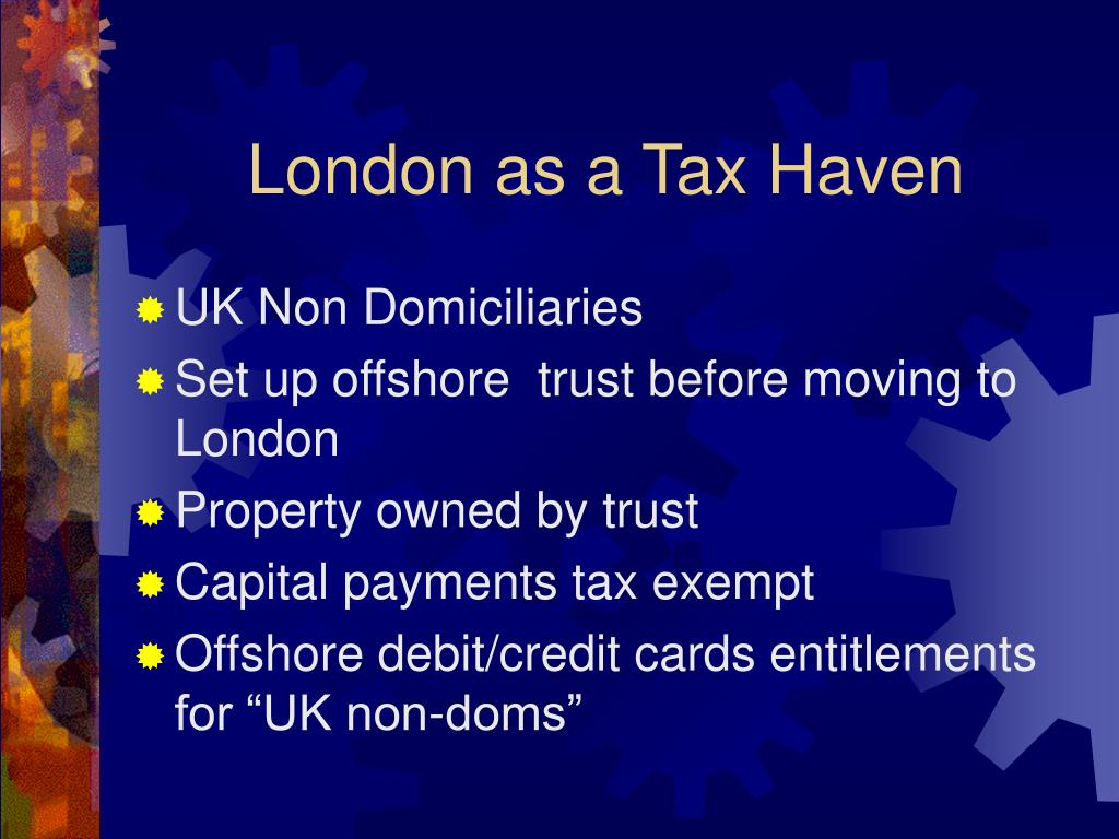 London as a Tax Haven