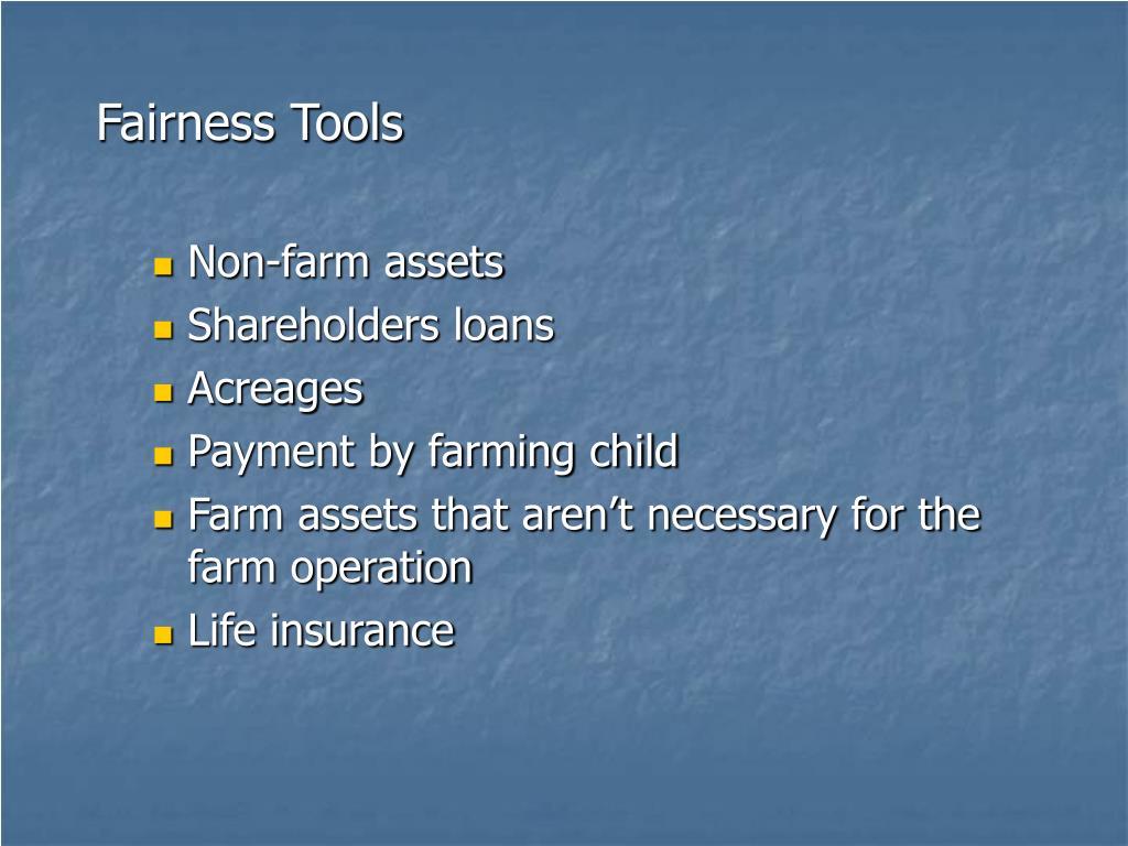 Fairness Tools