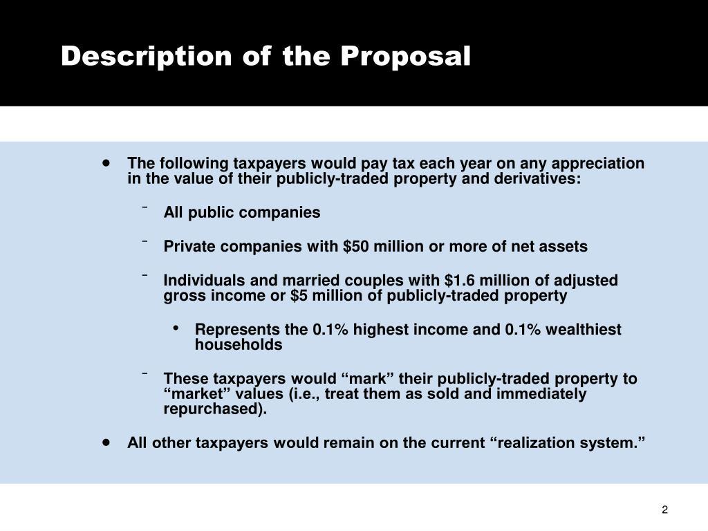 Description of the Proposal