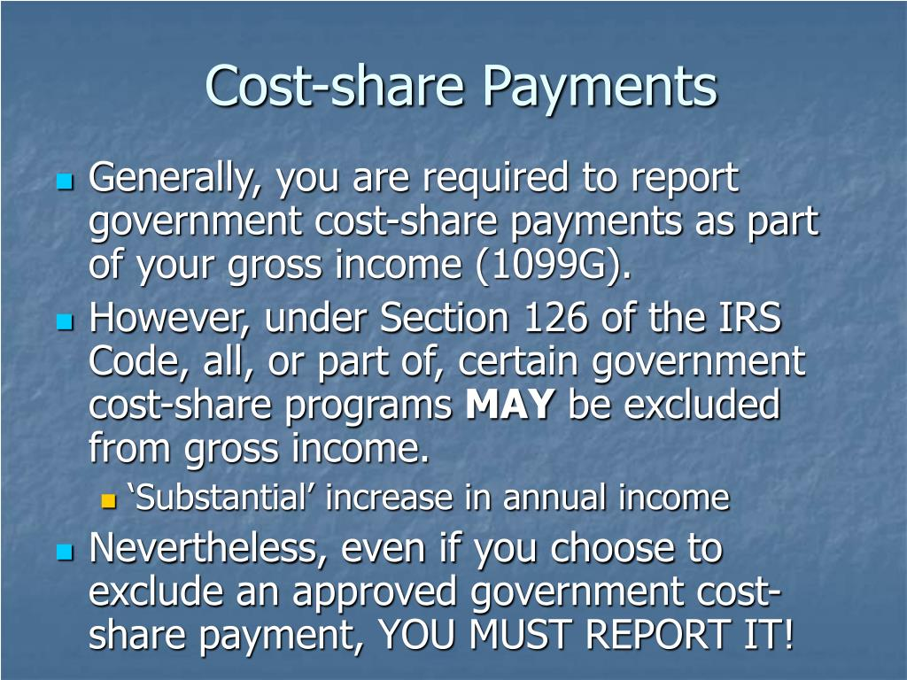 Cost-share Payments