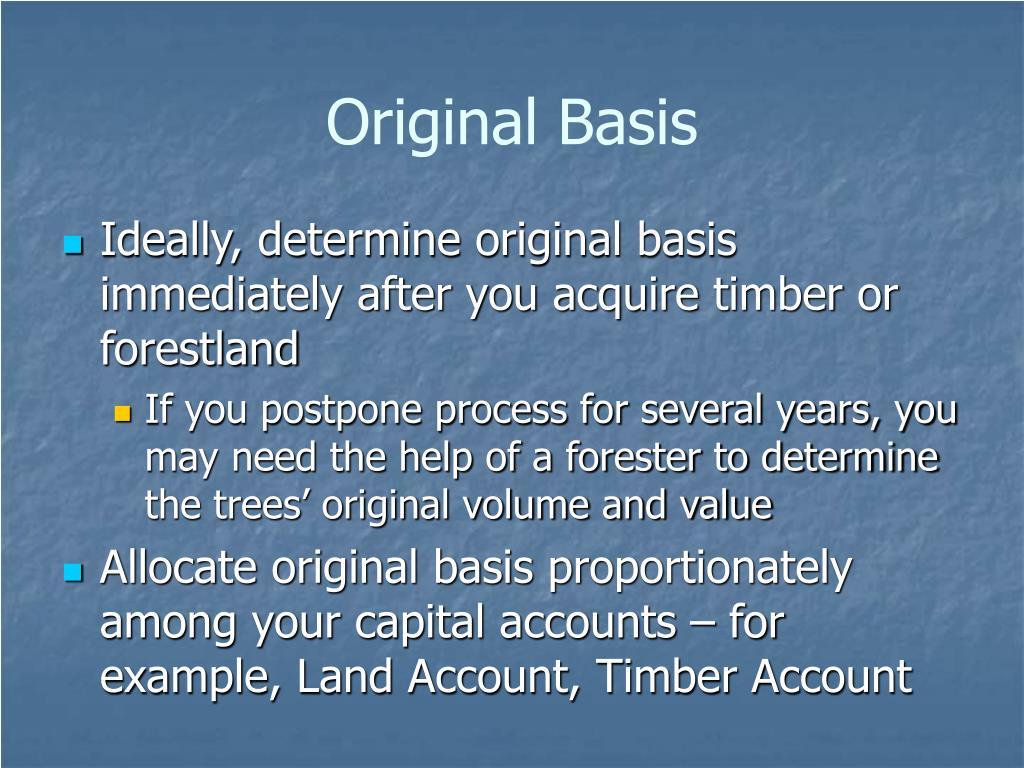 Original Basis