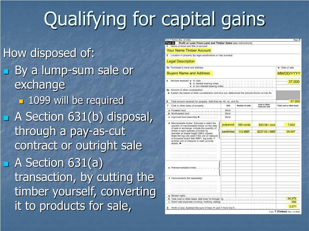 Qualifying for capital gains