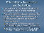 reforestation amortization and deductions