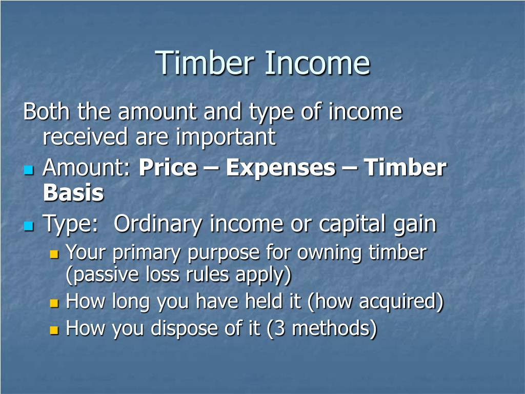 Timber Income