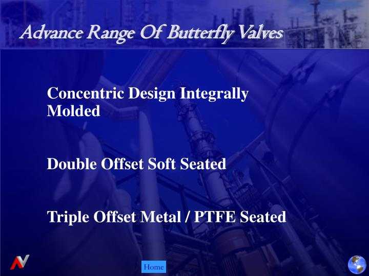 Advance Range Of Butterfly Valves