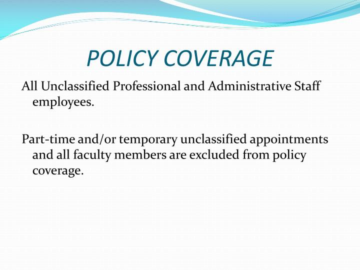 Policy coverage