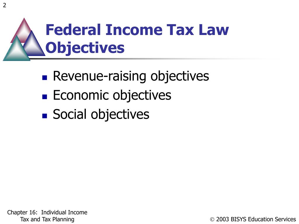 Federal Income Tax Law Objectives