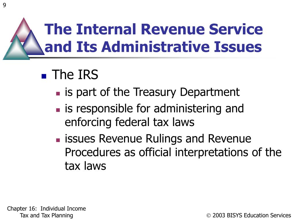 The Internal Revenue Service and Its Administrative Issues