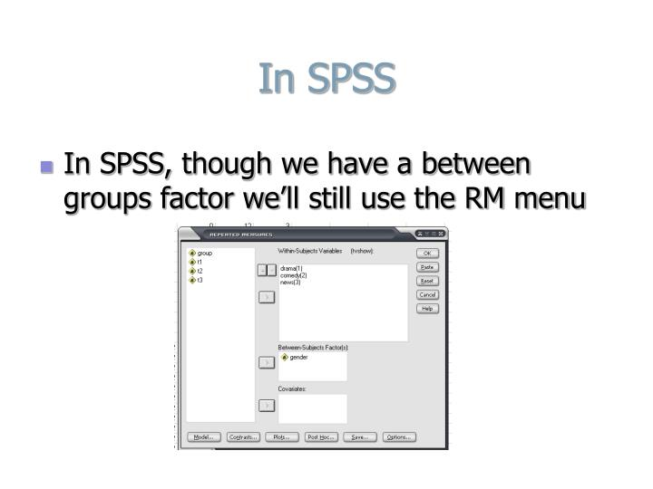 In SPSS