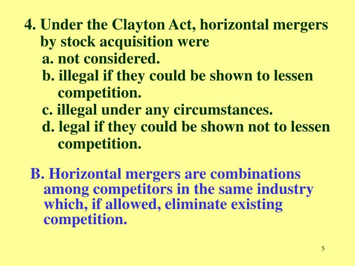 the importance of antitrust law against company mergers