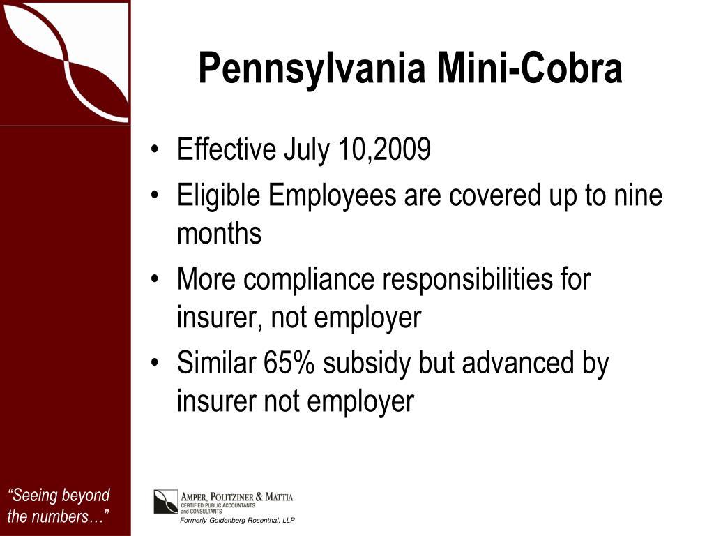 Pennsylvania Mini-Cobra