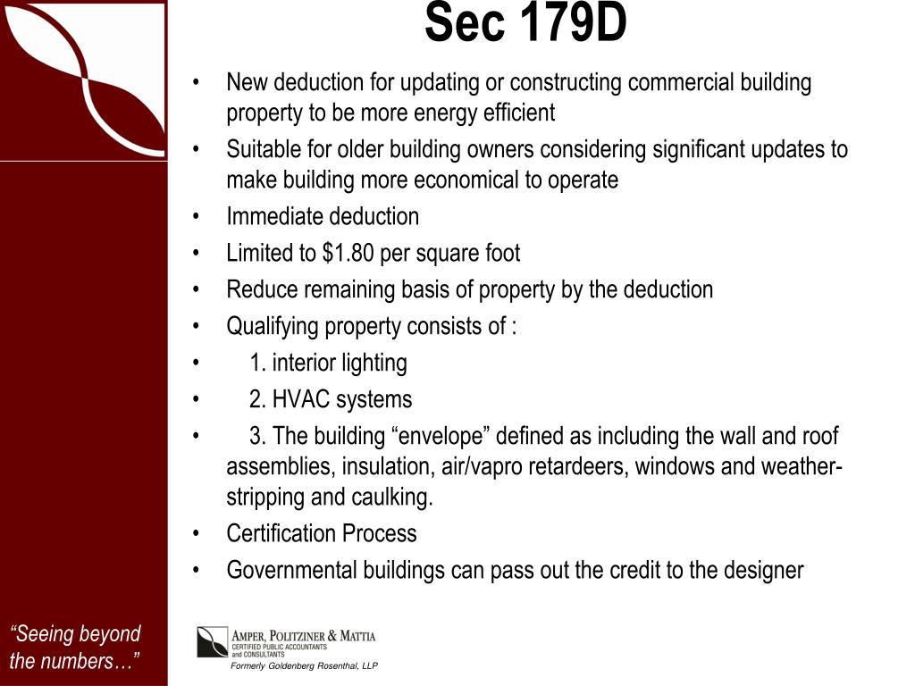Sec 179D