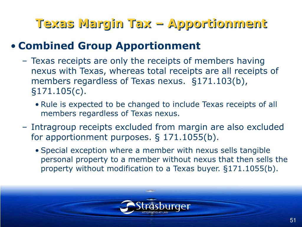 Texas Margin Tax – Apportionment